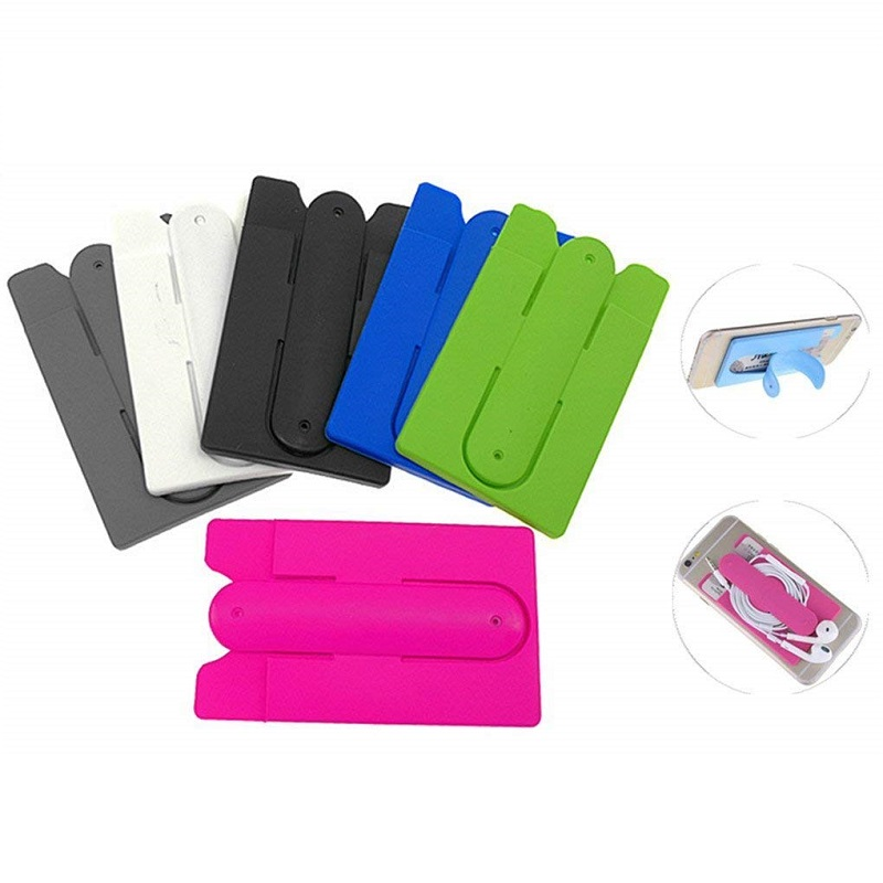 Cell Phone Credit Card Holder Attach to The Back for Phone Stand