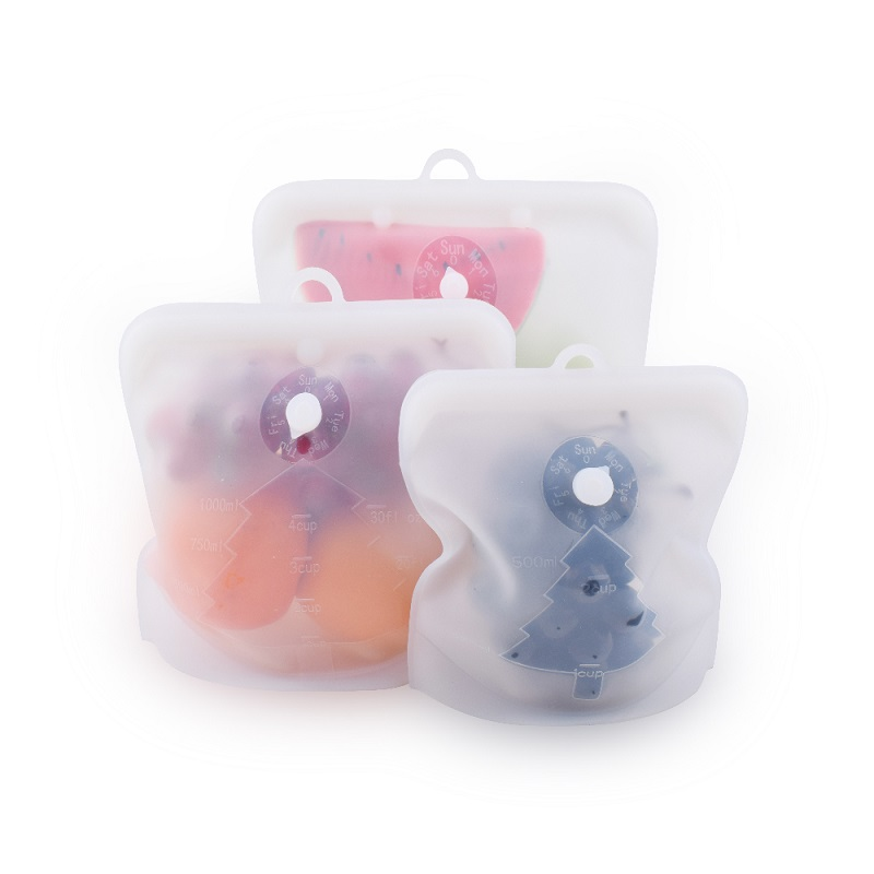 Free BPA Reusable Silicone Food Storage Bags for Microwavable