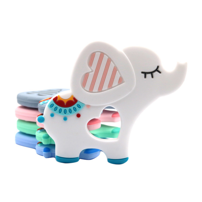 Eco-Friendly Food Grade Soft Elephant Baby Silicone Teether