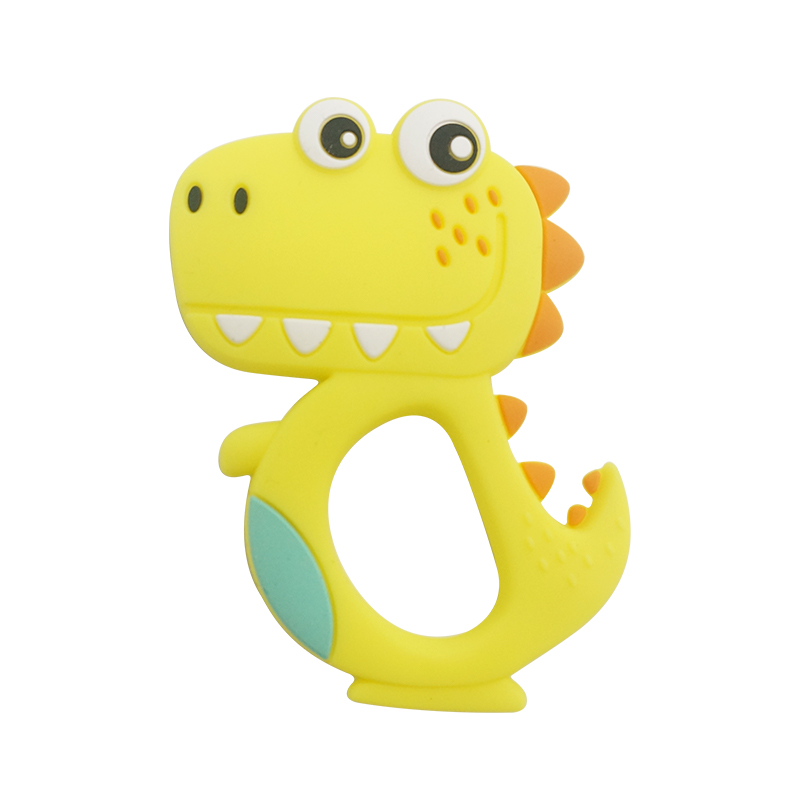 Best Baby Teethers Food Grade Infant Silicone Dinosaur Teether