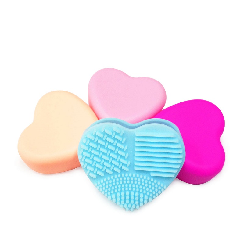 Heart Silicone Cosmetic Brush Cleaner Makeup Brush Cleaning Mat
