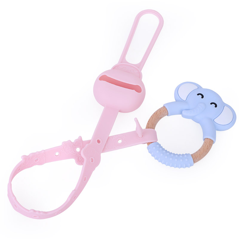 BPA Free Baby Silicone Toy Safety Straps Pacifier Clip Chain