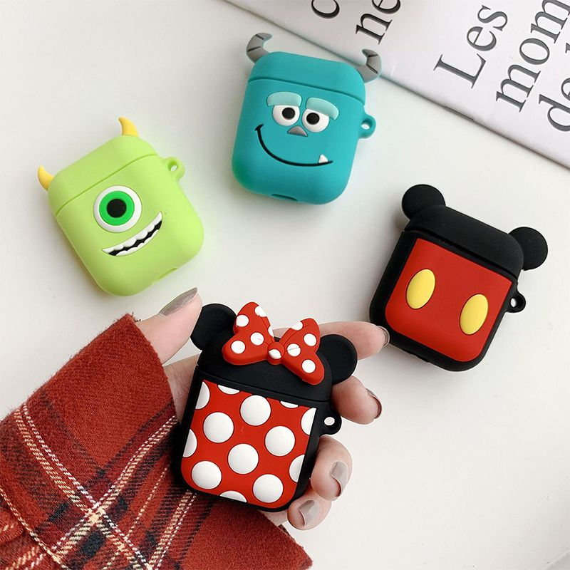 Lovely Cartoon Pattern Silicone Wireless Earphone Case for Airpods
