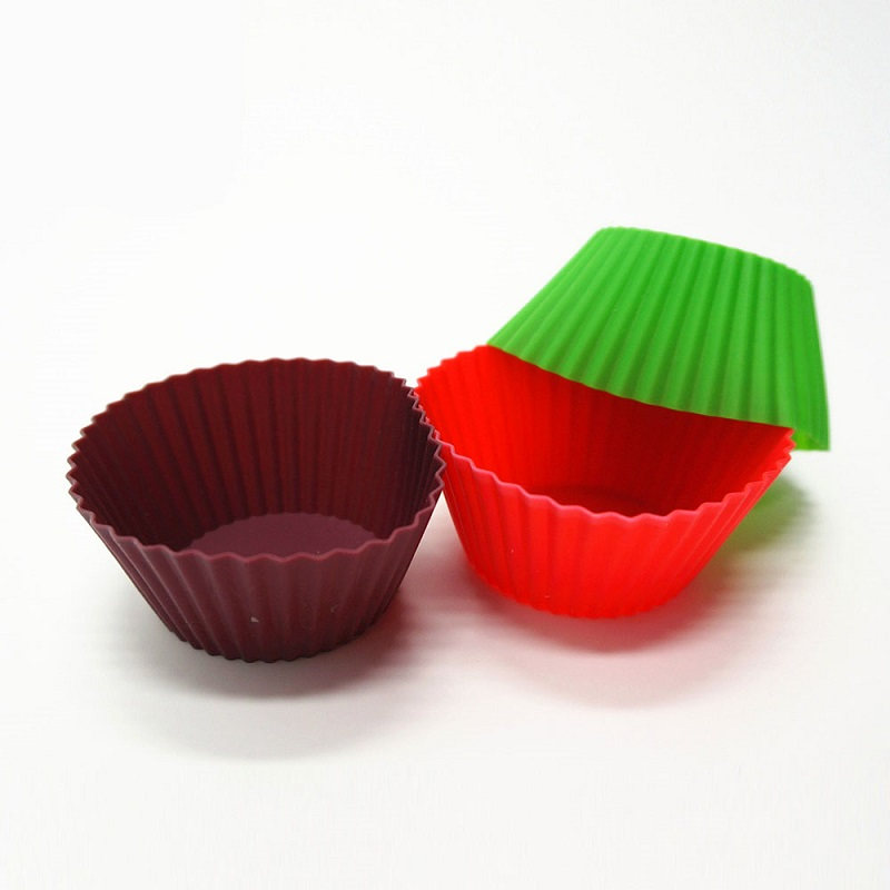 Cup Shape Silicone Bakeware Cake Molds for Microwave Cake