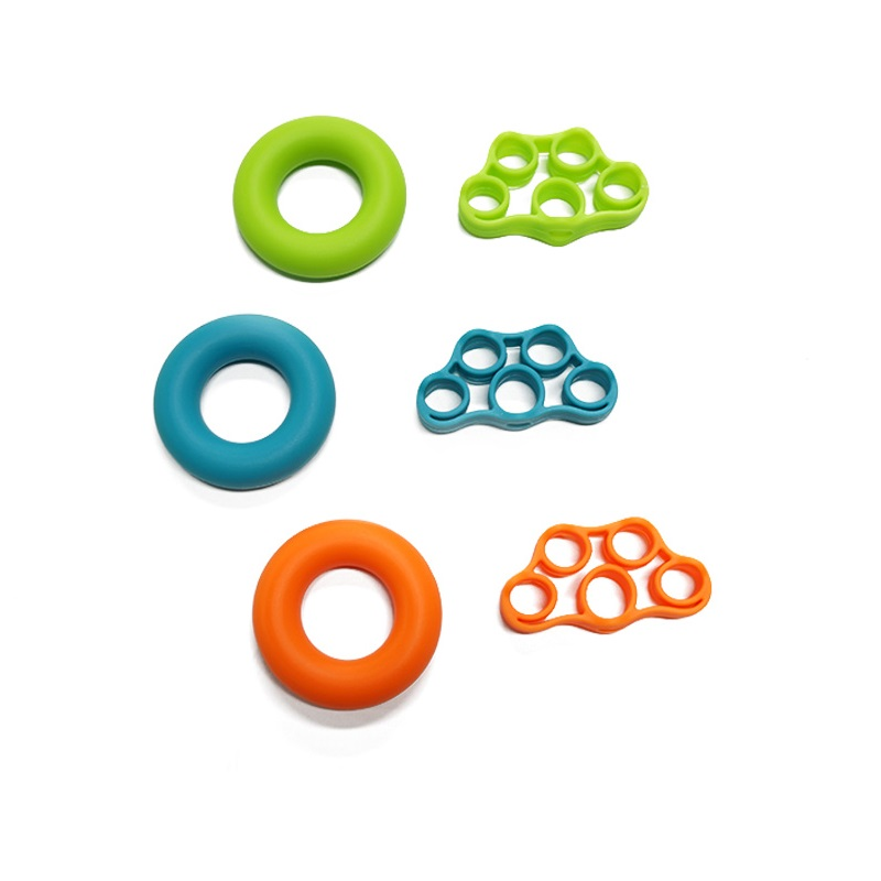 Wholesale Silicone Hand Gripper and Finger Strengthener Exercise Sets