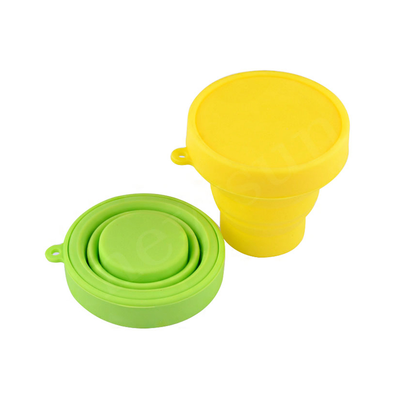 100% Silicone Good Foldable Portable Dinking Water Coffee Cup