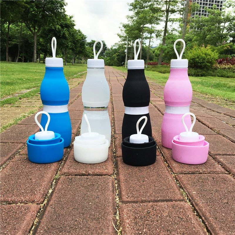 Portable 700ml Silicone Collapsible Water Bottle Drinking Outdoor