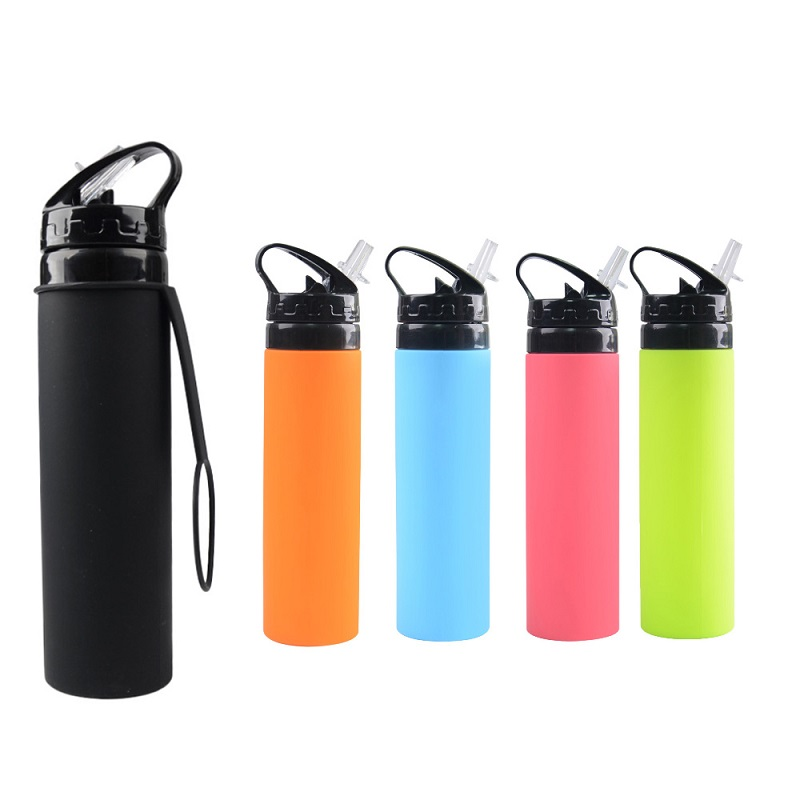 Best Collapsible Silicone Water Bottle with Contraction Rope