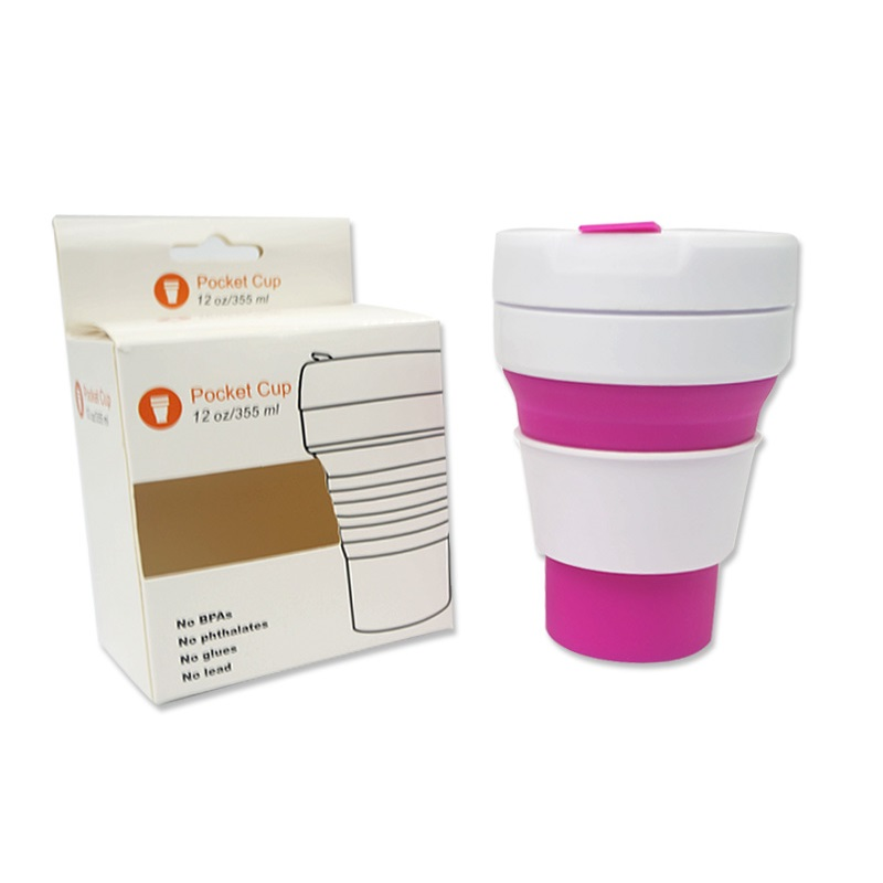 Collapsible Silicone Water Cup Pocket Mug for Drinking Coffee