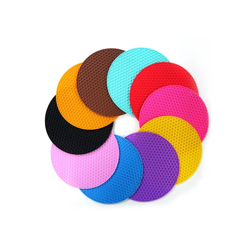 Honeycomb Round Heat Resistant Silicone Hot Pot Mat