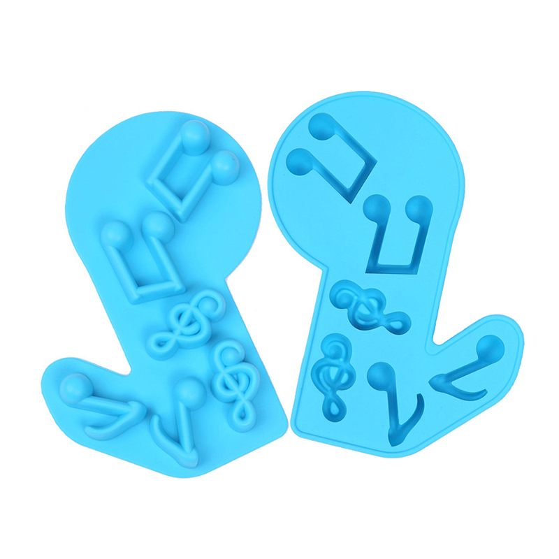 Sample Free Kitchen Musical Note Silicone Candy Chocolate Ice Mold