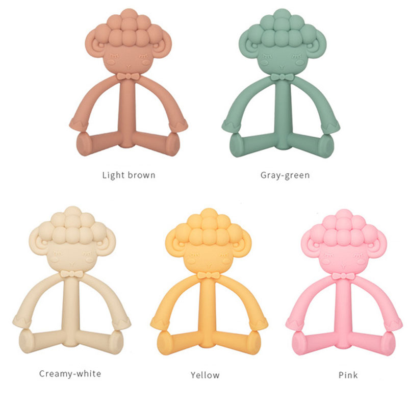Hot Sale BPA free baby chewing sensory toy food grade silicone animal teether bee