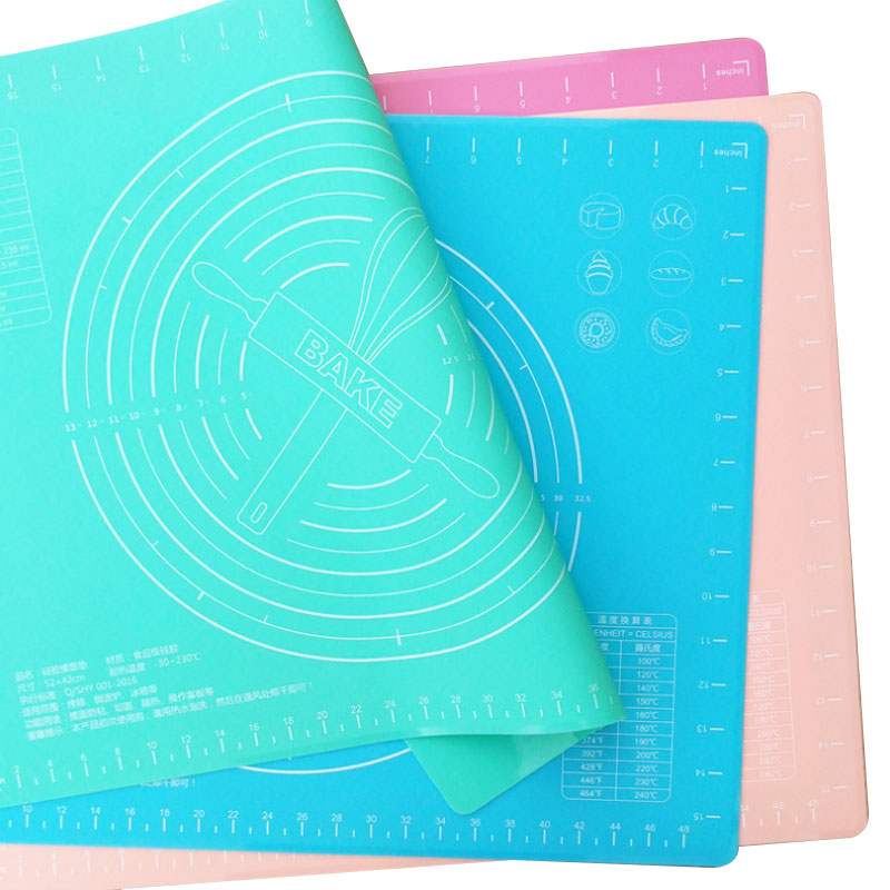 customizable large resistant baking mats thick BPA free silicone pastry mat heat