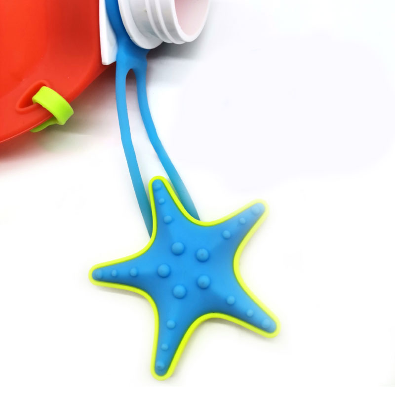 Cartoon Pattern Kettle Water Bag Collapsible Food grade  silicone kids water bottle