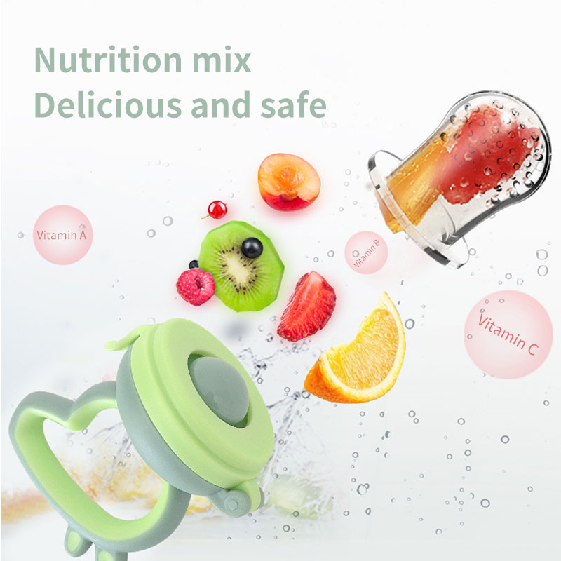 BPA Free Cute Food Biting Baby Pacifier Safe soft silicone Baby Fruit Vegetable Feeder