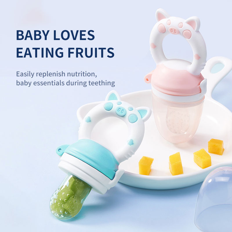 Wholesale Vegetable teether toy eco-friendly natural silicone Baby Food Fruit Feeder