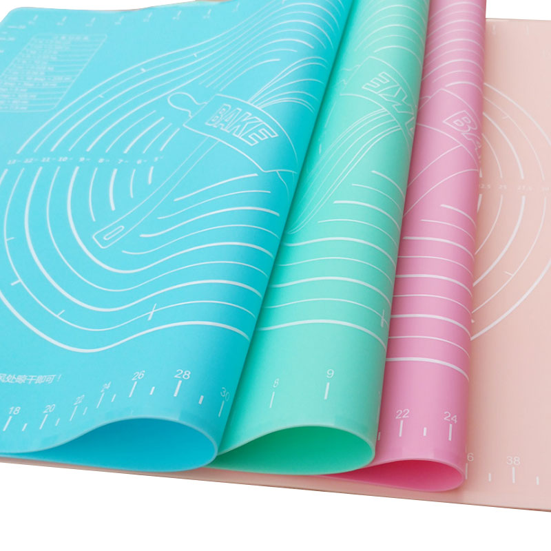 Custom non stick food grade safe Heat-Resistance silicone baking pastry mat With Measurement