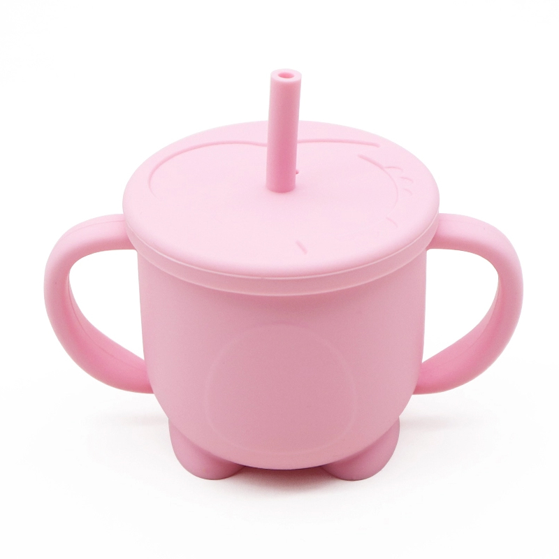 2020 new Reusable BPA Free bulk leak proof sippy cups Food Grade Silicon Sippy Baby Training Cup