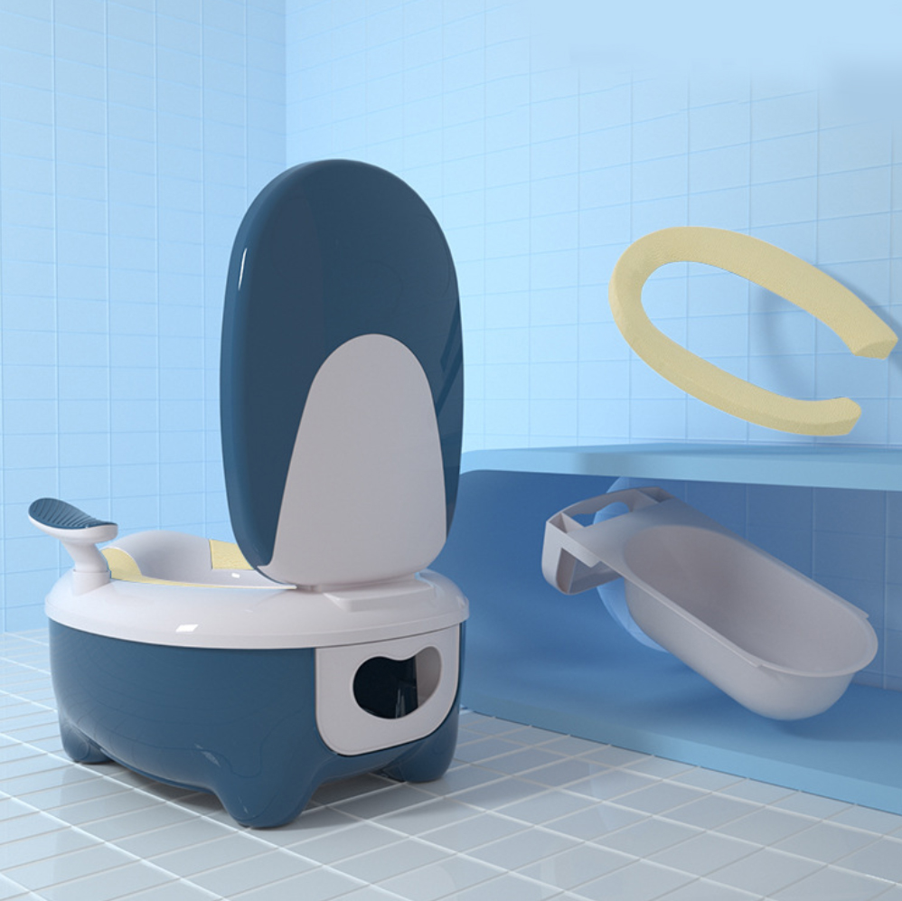 2020 Latest simulation foldable travel detachable baby toilet potty soft baby training toilet with lid