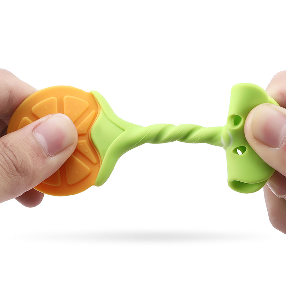 Free sample food grade custom baby toys Approval silicone teether