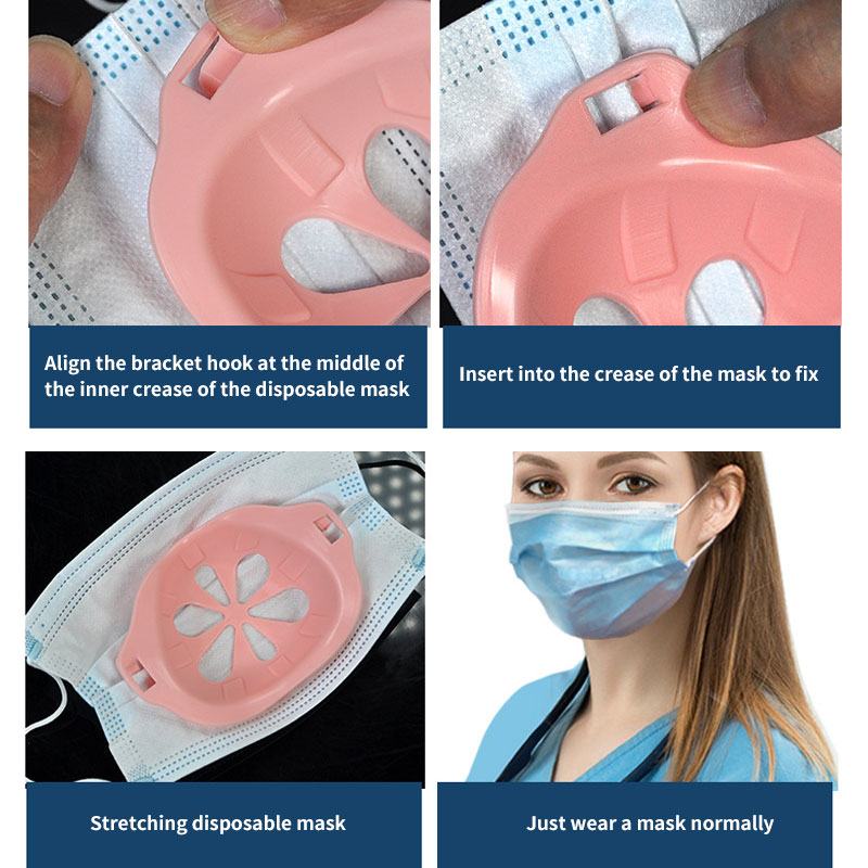 Hot Selling Reusable Washable Inner Support Frame comfortable 3d silicon face mask bracket