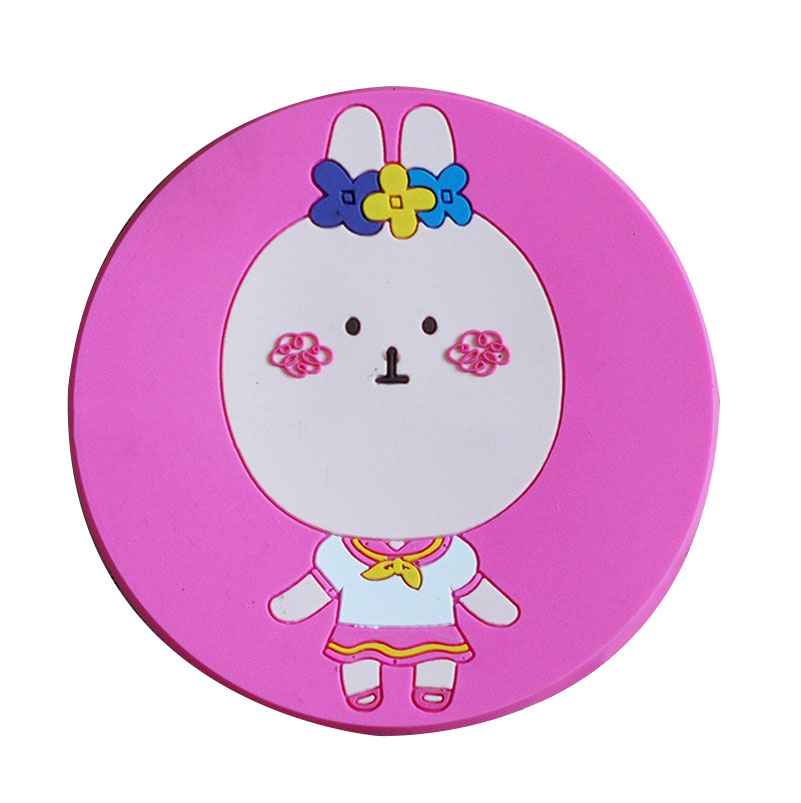 Christmas series pattern Heat-resistant And Non-slip silicone cup pad mat