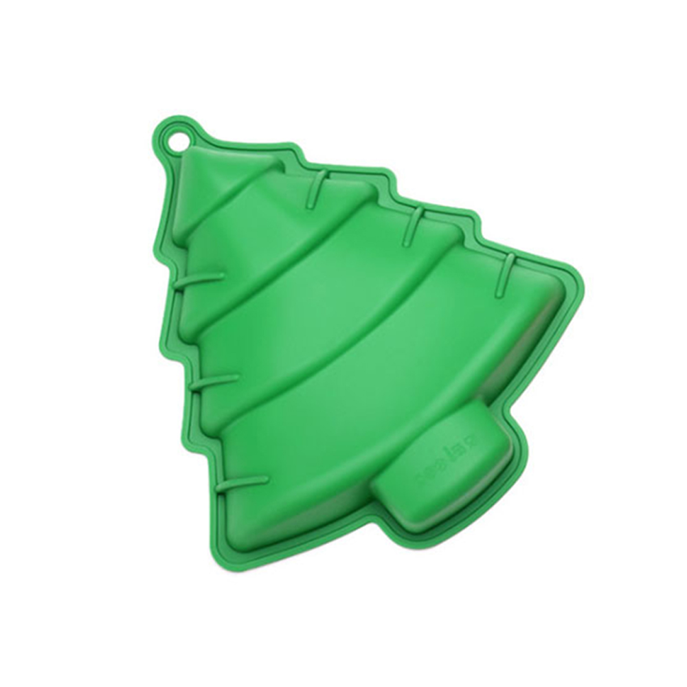 Factory price Non-Stick Christmas Tree Food grade Silicone Cake Chocolate Candy Molds baking