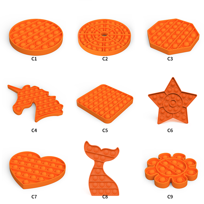 Hot Sale Fun autism special needs stress reliever games Silicone pop sensory fidget toy