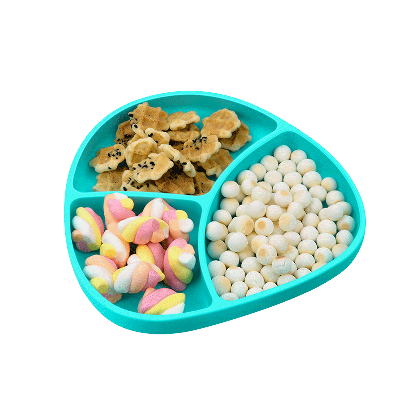 BPA Free Food Grade baby plate and spoon  Easy to clean Dinning Plate Silicon plate set