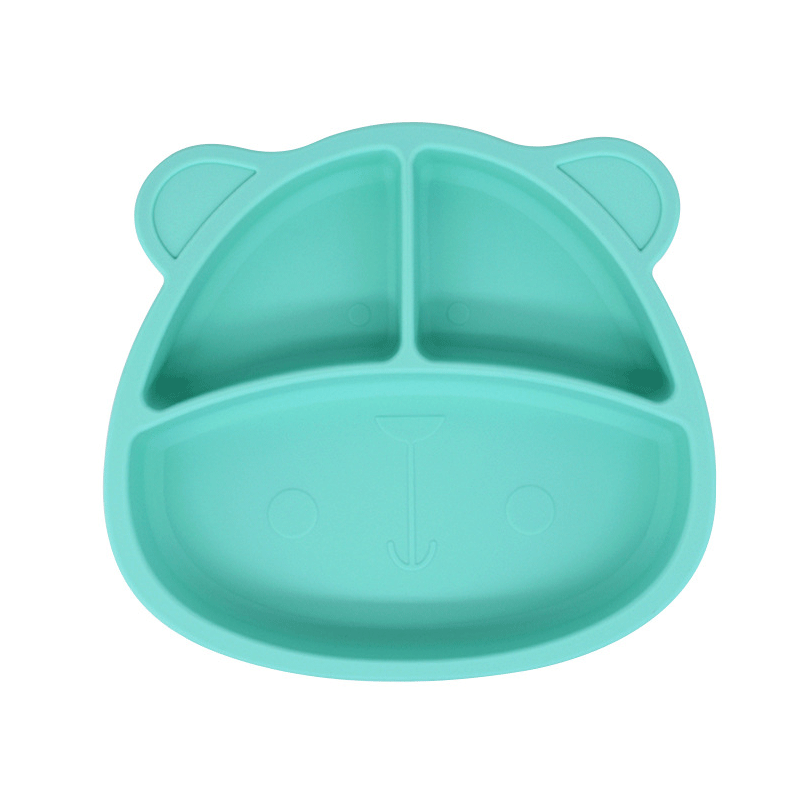 Wholesale Food Grade Silicone Baby Placemats Feeding Anime Bowl Silicone baby Plate