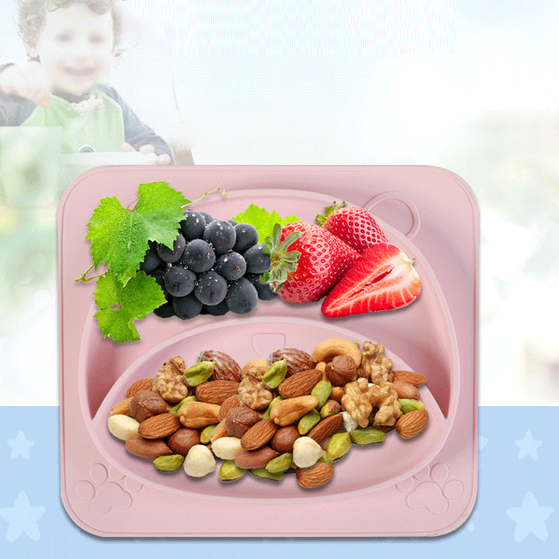 Eco friendly BPA free Portable funny Waterproof Placemat food grad baby silicone plate