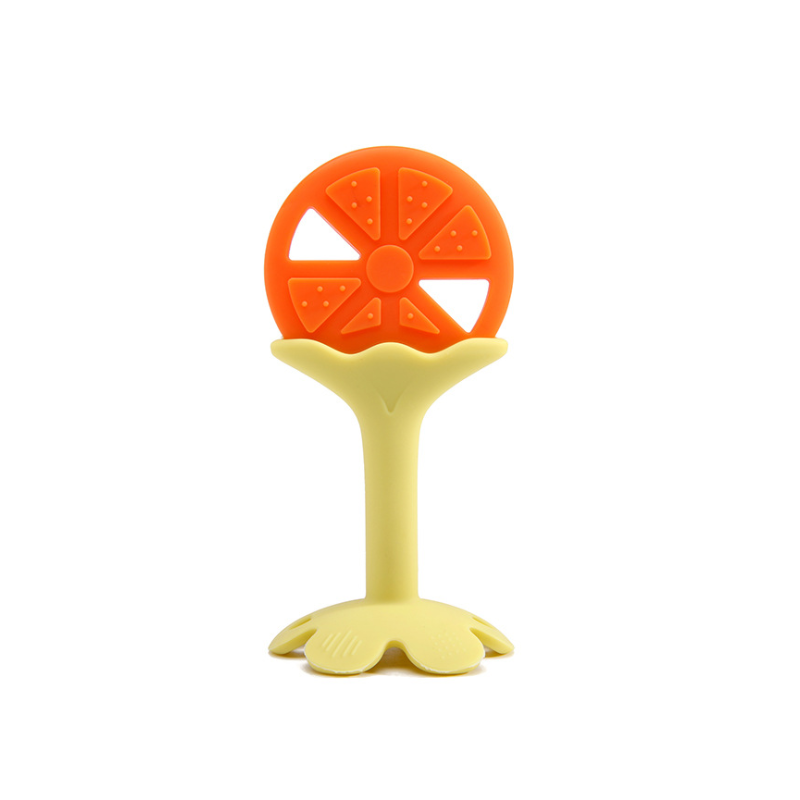 Factory customization Safety Silicone Baby Supplies Silicone Baby Teether Fruit Toys