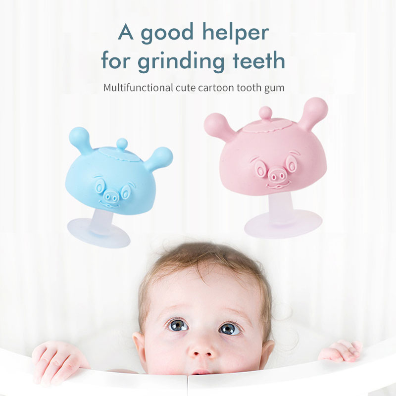 Hot Selling Mushroom Shape Design Food grade silicone teething toy for baby