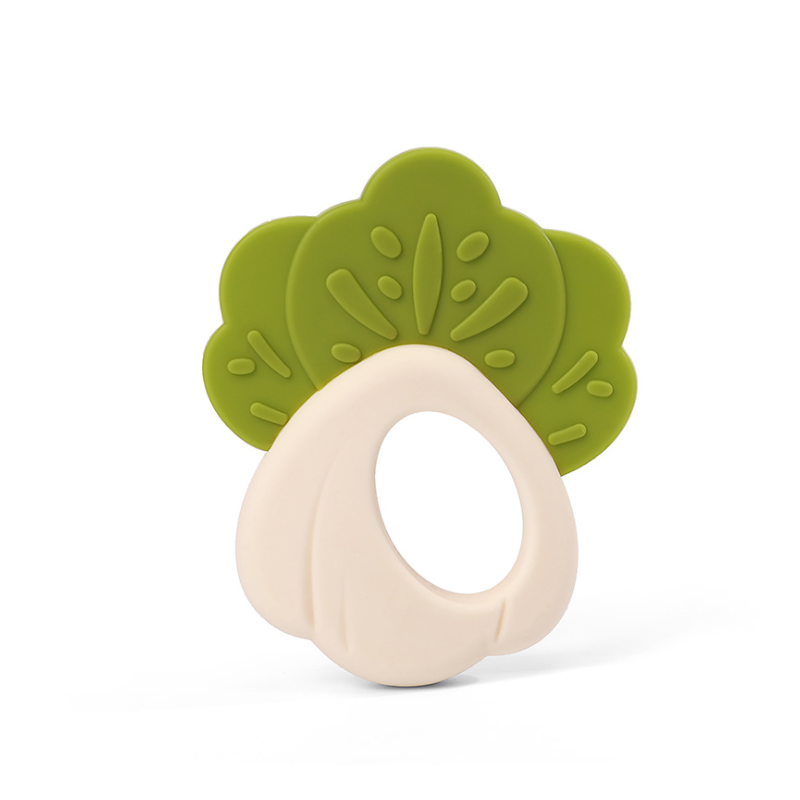 Customized Baby Chewable Chinese cabbage radish Silicone Teether Bpa  Baby Free Teething Toy
