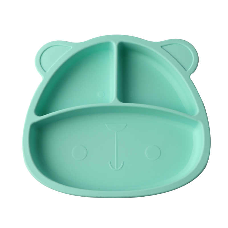 Hot BPA Free Baby Plate Reusable Non-slip Silicone Dinner Placemat Easy Cleaning