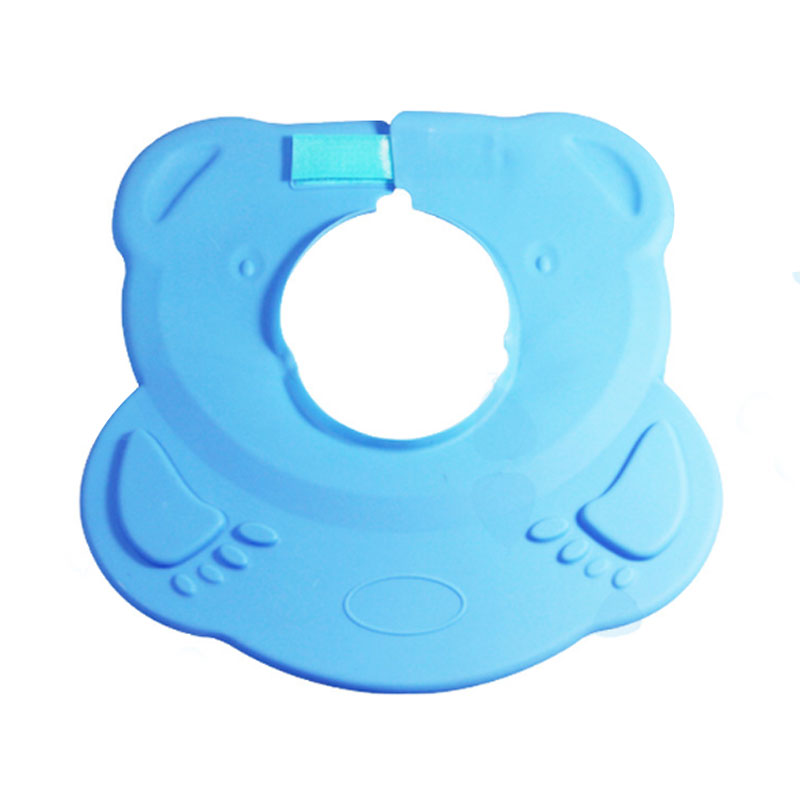 Custom waterproof Adjustable baby shower faucet cap baby silicone safety  Bathing Shower Cap