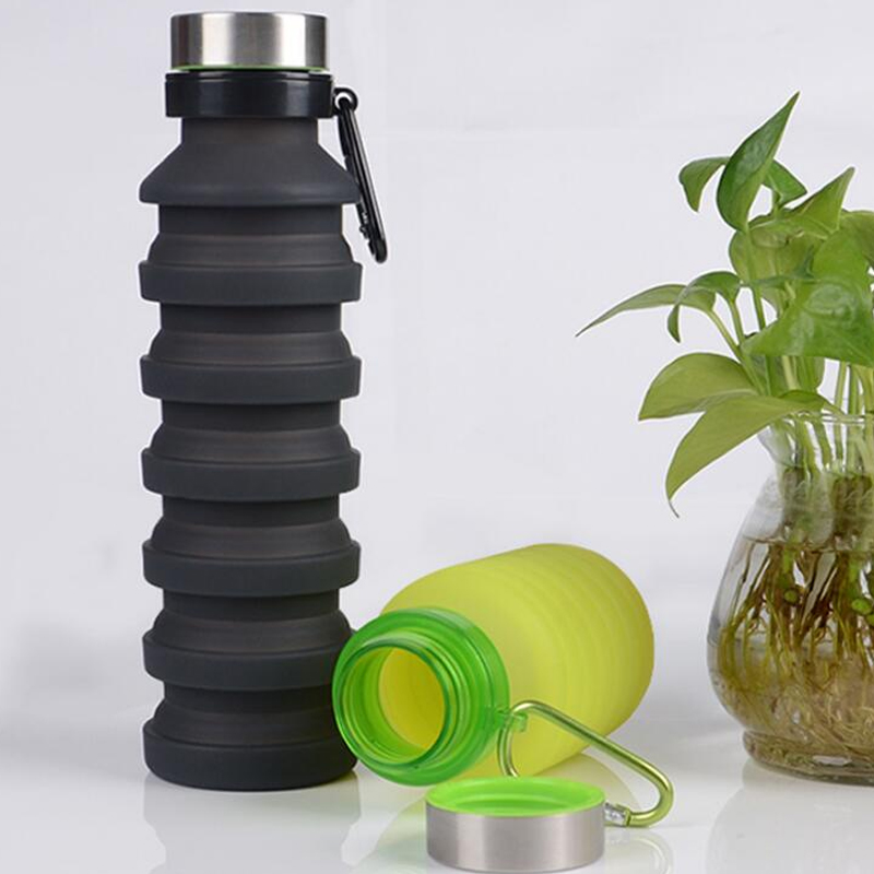 New Sport Foldable Silicone Drink Bottle 750ML Water Bottles With Custom Logo