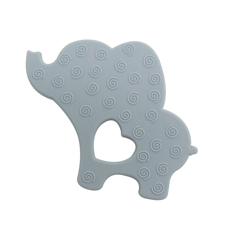 Food Grade BPA Free Silicone Baby Teething Toy Elephant Soft Silicone Baby Teether Toy
