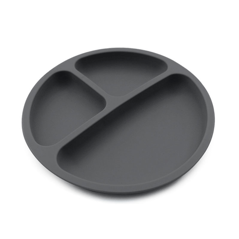 Wholesale High Quality resusable non-slip feeding dinner food grade silicone baby plate