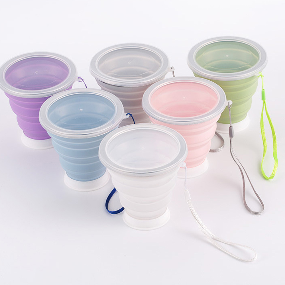 China Supplier Quality Assurance Hot Sale Amazon Silicone Foldable Collapsible Drinking Coffee Cup