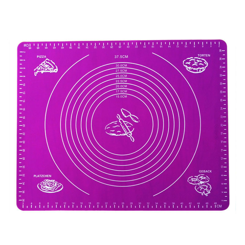 High Temperature Resistant Reusable Food Grade Safety Silicone Non Stick Pastry Mat