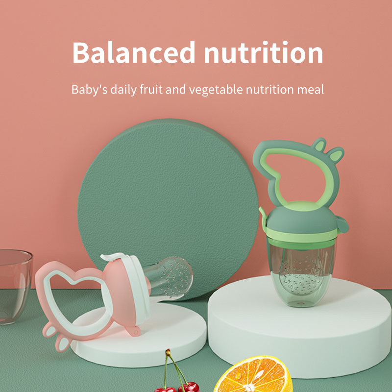 BPA Free Cute Food Biting Baby Chupete Safe soft silicona Baby Fruit Vegetable Feeder