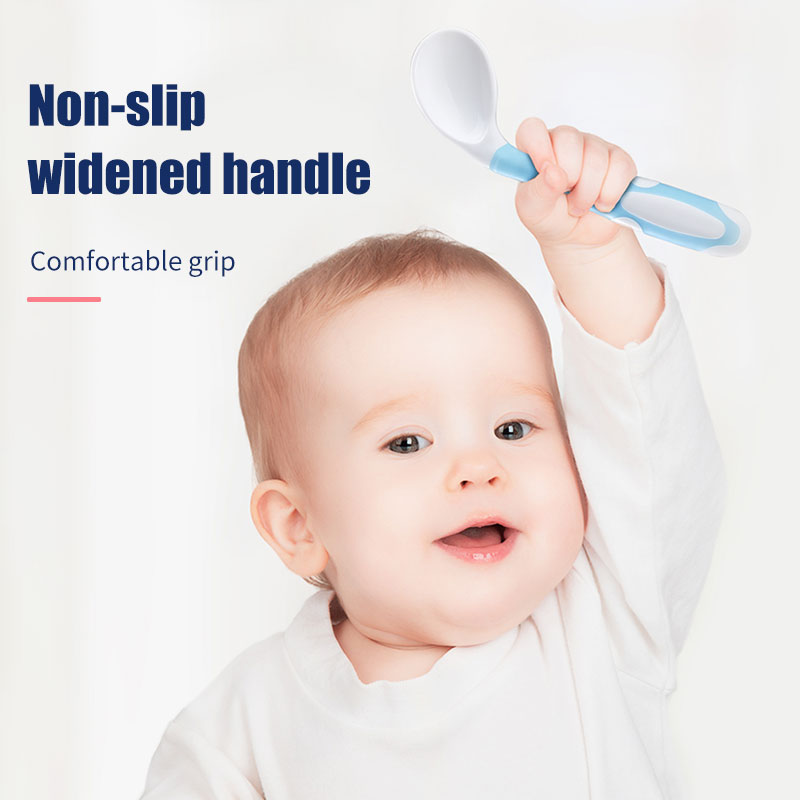 Hot Sale BPA Free Safety Non-toxic baby silicone spoon and fork For Training
