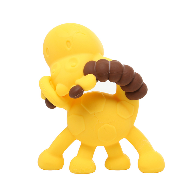 New Design Soft BPA Free Silicone Teether Toys Baby Silicone cartoon teether teething toys
