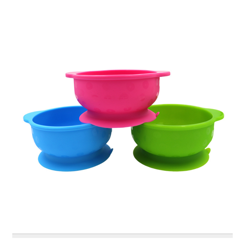 Hot Sale Multi-Colored Non-Toxic Waterproof Food Grade Silicone Baby Bowl And Spoon Set