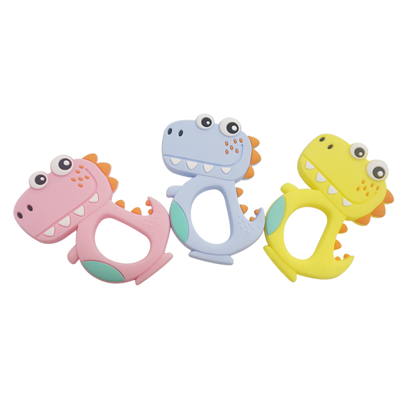 Eco-friendly Baby Teething Chewable Silicone  toys animal shape  Teethers
