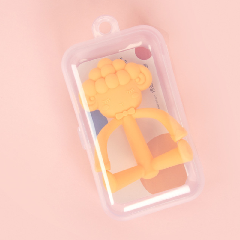 Wholesale customization Soft Safety chewing teething toys food grade soft silicone baby teether