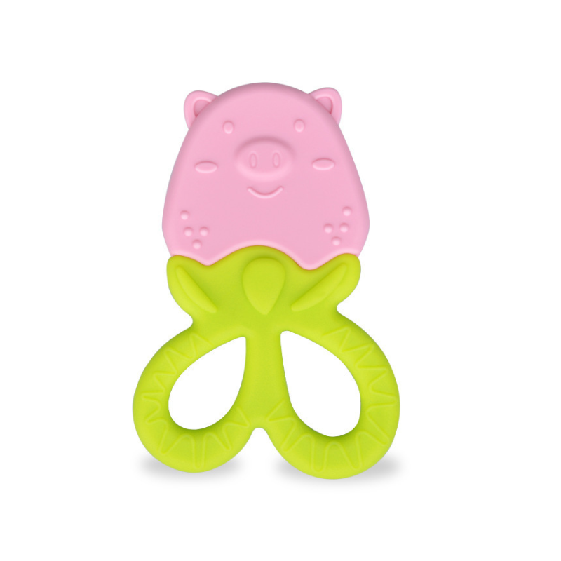 Funny Teether Toy Baby Loves Strawberry Shape Silicone Pain Removing teething fruit