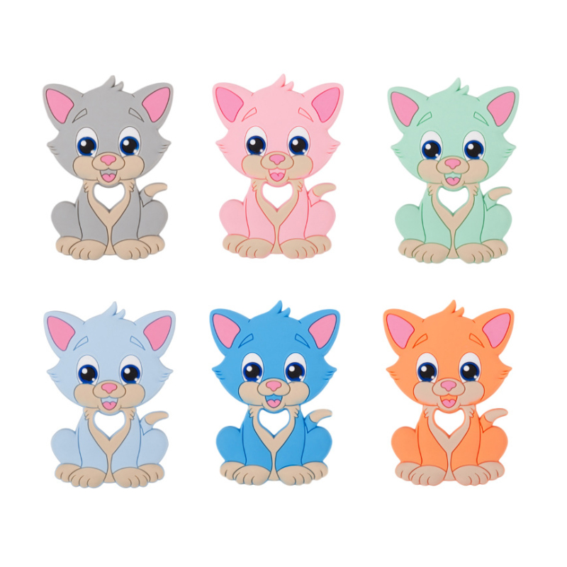 Custom Wholesale Manufacturer Free Sample 100% Food Grade Soft  Silicone Baby Teether Toy