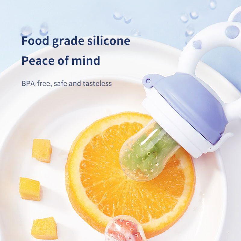 Standard factory 100% quality inspection, no odor food grade silicone baby silicone food feeder